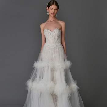 Vestidos de novia Marchesa 2017: Romanticismo y delicadeza en cada uno de los detalles