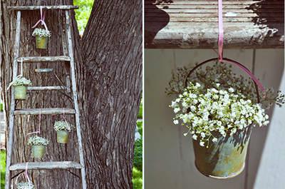 Objetos decorativos colgando el día de tu boda