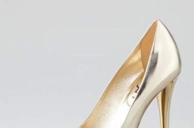 Zapatos en oro y plata para novias e invitadas del 2013