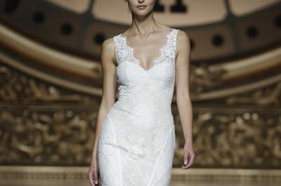 Vestidos de noiva com decote em V para 2016: alongue a sua figura e brilhe nestes modelos!