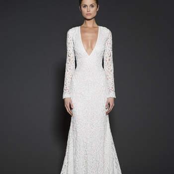 20 роскошных свадебных платьев с рукавами фонарик 2016!