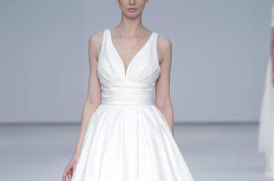 Vestidos de novia con escote en V 2017: diseños para resaltar tu lado más atrevido