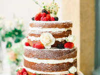 Let's Get Naked: Unfrosted Wedding Cakes