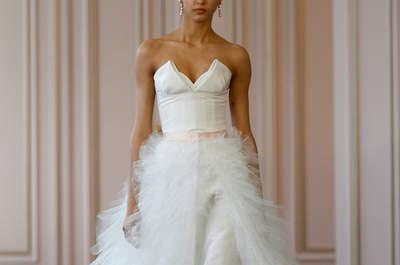Colección 2016 de Óscar de la Renta, diseños románticos para tu vestido de novia