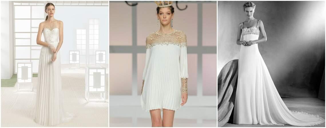 Vestidos de novia corte recto 2017: Diseños que conquistarán tu estilo