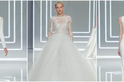 Suknie ślubne Rosa Clara 2017 : perfekcyjne symetrie i kontrasty!