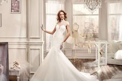 Vestidos de novia 2016 con cuello cisne: Los modelos más encantadores para tu look nupcial