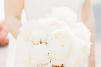 No te pierdas los ramos de novia con peonias 2017. ¡Los querrás todos!