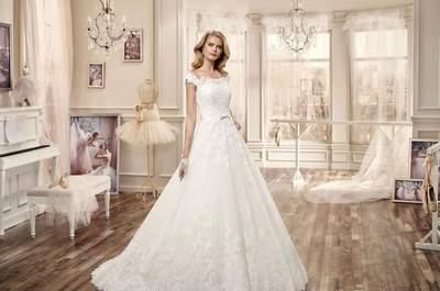 Vestidos de novia 2016 con línea A: ¡La cintura más estilizada la tendrás tú!