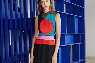 Un festival gráfico: Vestidos de fiesta con increíbles estampados de color… Así luce Roksanda Resort 2016