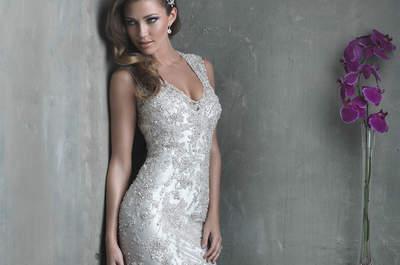 Os mais lindos vestidos de noiva com pedraria que vão te impressionar!