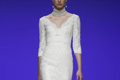 40 vestidos de novias para bajitas, tendencias 2016. ¡Alarga tu figura!