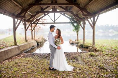 Shooting d'inspiration : un mariage épuré hivernal aux notes bleu roi
