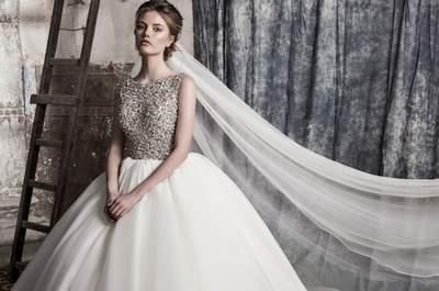 Os 40 vestidos de noiva de saia volumosa para 2017 que não podem perder!