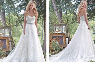 Vestidos de novia para mujeres altas 2017 sacados de cuentos de hadas. ¡Te enamorarás!