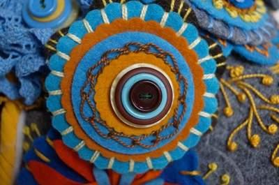 Kolorowe bukiety ślubne z filcu