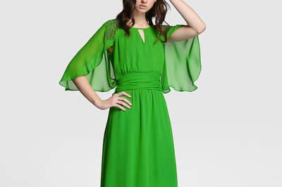 20 vestidos de fiesta verdes largos 2017: ideales para las bodas de noche