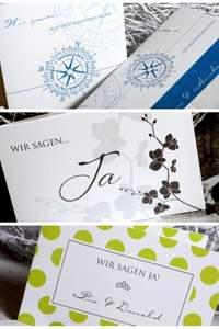 Kreative Hochzeitseinladungen von Cariñokarten für den schönsten Tag im Leben