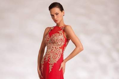 20 vestidos de festa vermelhos compridos 2017. Escolha o seu favorito!