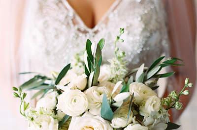 Flores blancas para tu ramo de novia: El detalle ideal para tu look de boda