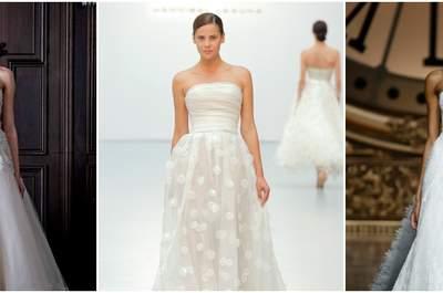 Abiti da sposa senza spalline 2016: una moda senza tempo