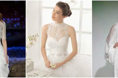 Robes de mariée à col montant 2016 : pour un look chic et délicat