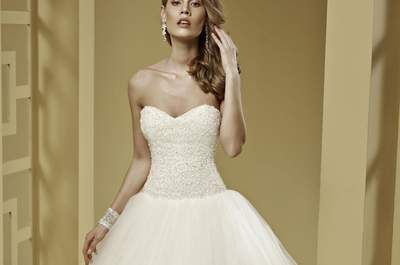 A-line wedding dresses for a flattering bridal look