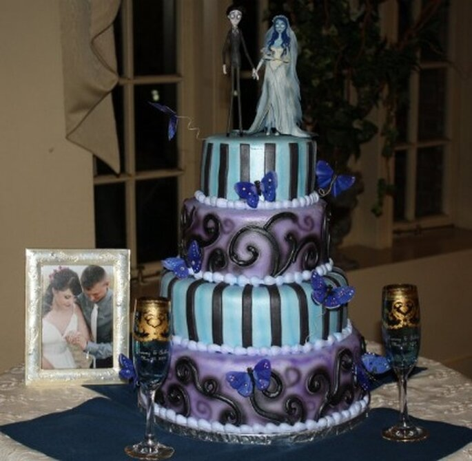 Pièce-montée pour un mariage gothique - Corpse Bride Reception - Gothicweddingdresses.webs.com