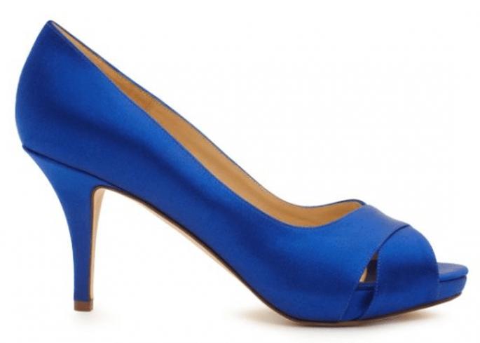 Chaussures de mariée bleues au style minimaliste - Photo Kate Spade