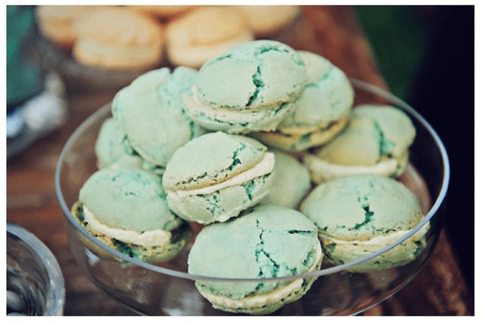 Macarons para el postre de tu boda - Foto Pure Sugar Studios