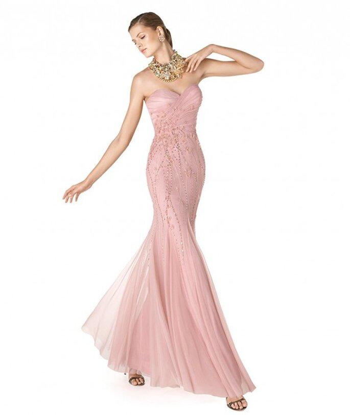 Vestido de fiesta para damas de boda en color rosa pastel - Foto La Sposa