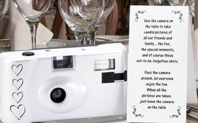 Macchina fotografica usa e getta per immortalare le emozioni di ogni tavolo