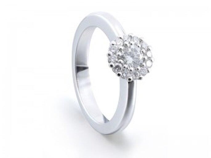 Solitario - Modelo Flor de Diamantísimo