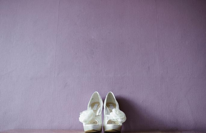 Detalle de los zapatos de la novia - Foto Nadia Meli