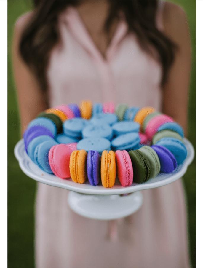Macarons el postre para tu boda - Foto Jasmine Lee Photography