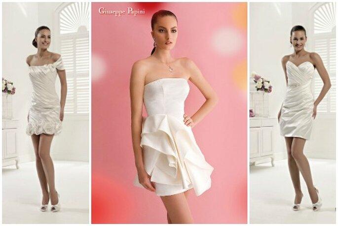 Tre proposte sexy perfette per una cerimonia civile. Da sinistra Colet 2013 by Nicole Spose, Giuseppe Papini Collezione 2013, Colet 2013 by Nicole Spose.