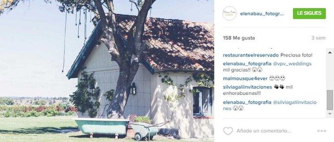 Imagen vía Instagram Elena Bau Fotografía