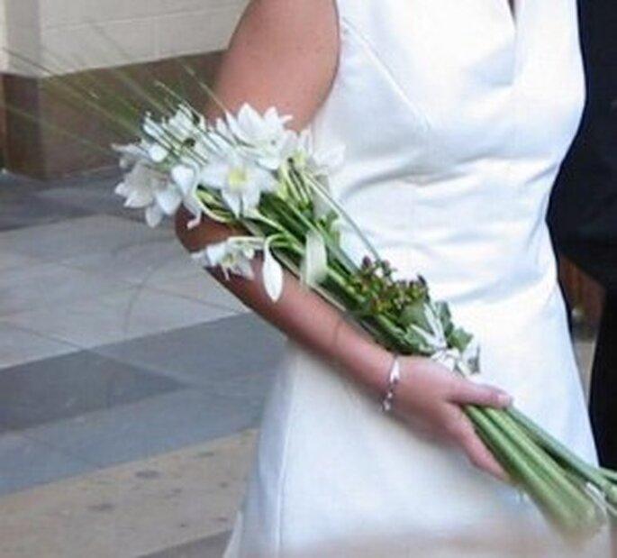 Ramos de novia de tallo largo para novias altas