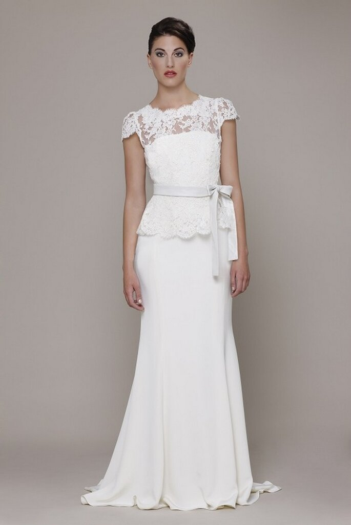 Vestido de novia Fiorella de Elizabeth Stuart 2014. Vista de frente. Foto: www.elizabeth-stuart.com