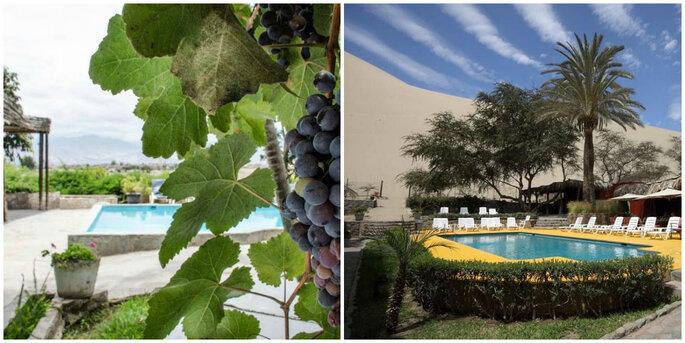Créditos: foto izquierda de Fundo Hotel El Arrabal/ foto derecha El Huacachinero