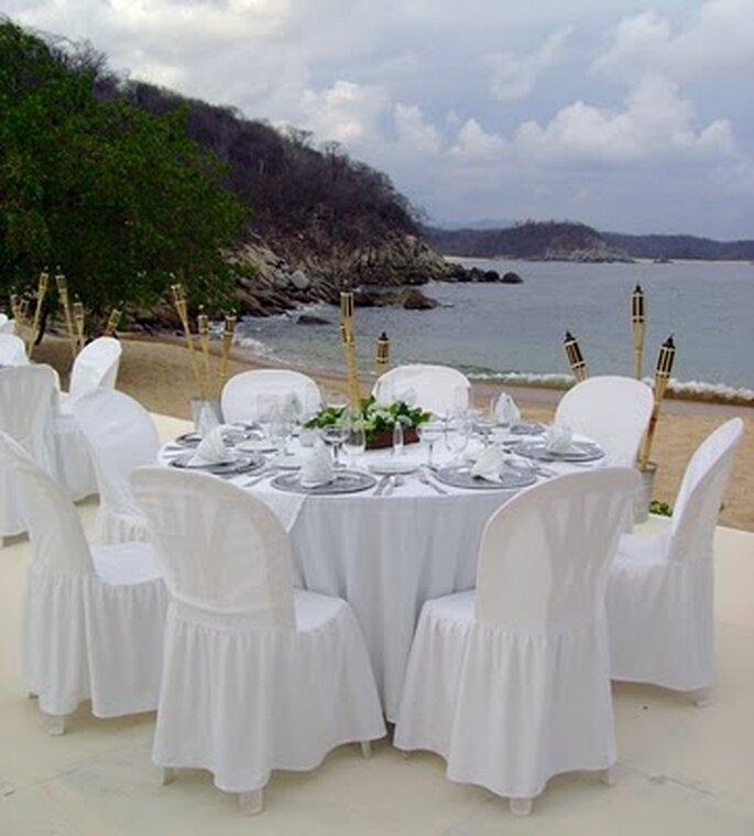Banquetes de bodas para casarse en la playa.