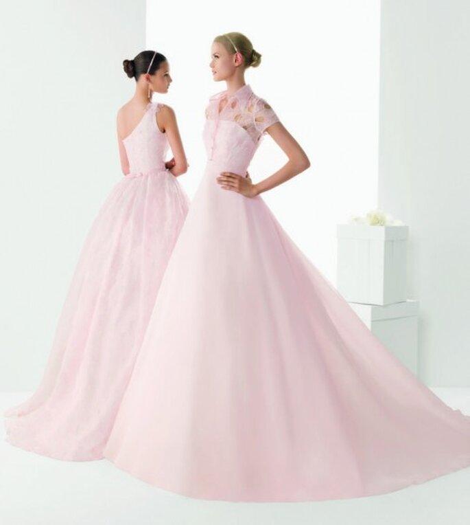 Vestidos de novia en color rosa diseñados por Rosa Clará 2013