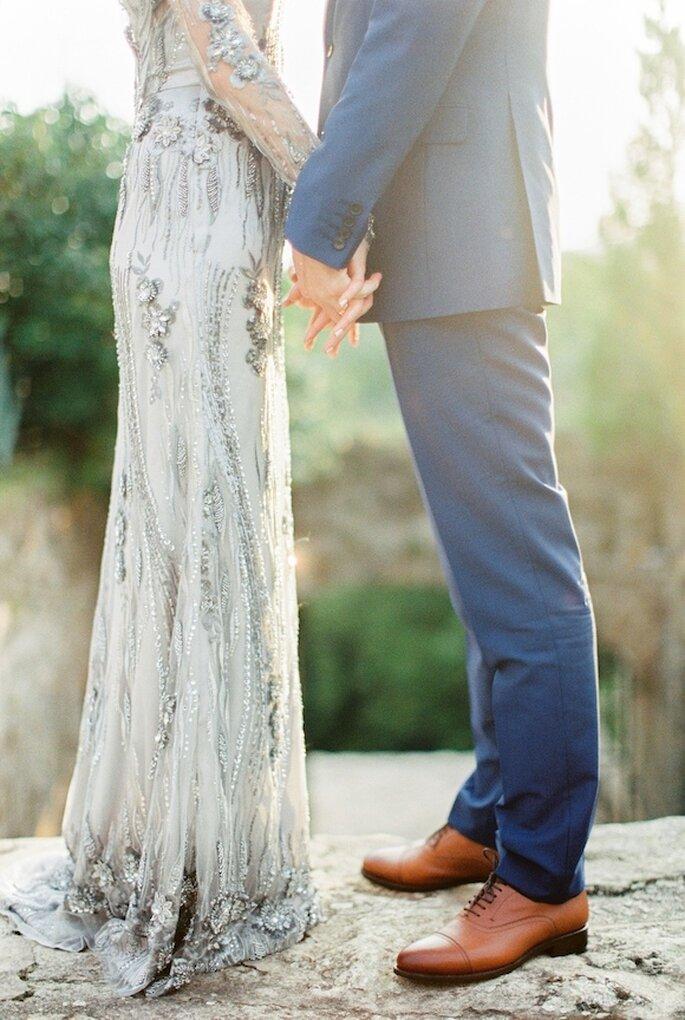 Boda decorada con colores azul y gris - Peter and Veronika