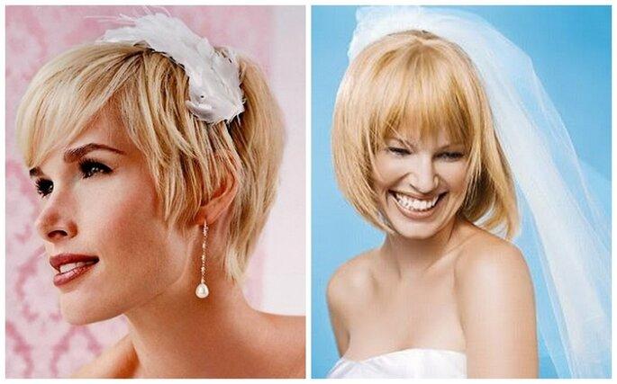 Tendencias 2013 para novias con pelo corto. Fotos: www.matrimonio.pourfemme.it