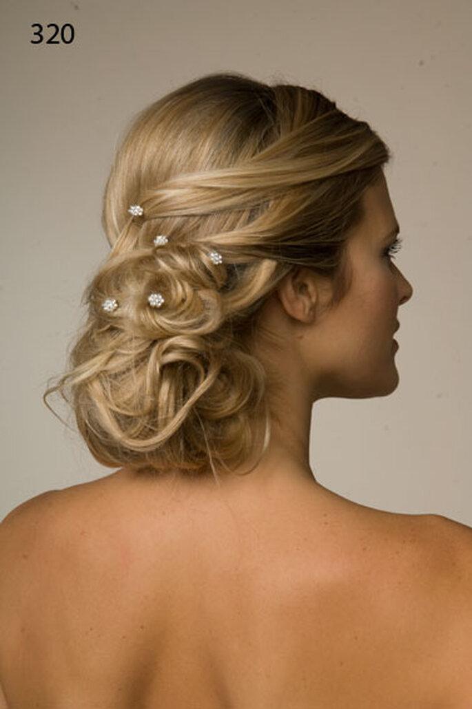 Romantische Brautfrisuren – mit Haarteilen ist alles möglich –Foto: Matias Rivara