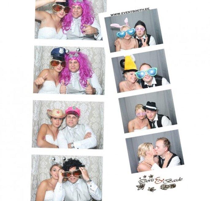 EventBooth garantiert witzige Hochzeitsfotos. Fotos: EventBooth
