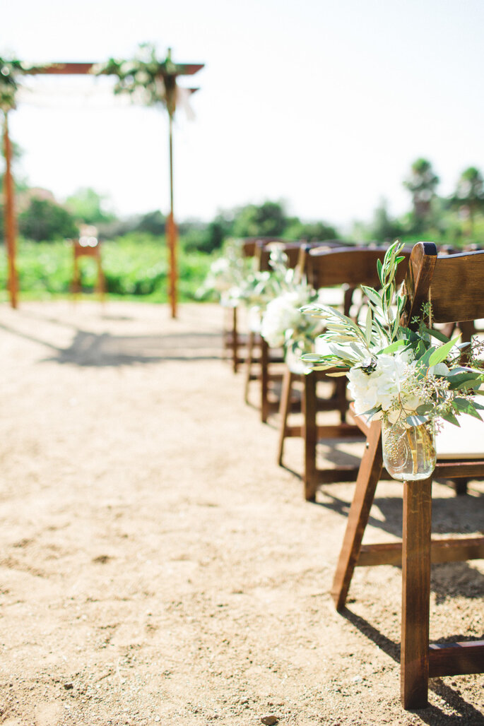 8 maneras creativas de decorar el pasillo de la ceremonia de boda. Foto-Aga Jones Photography