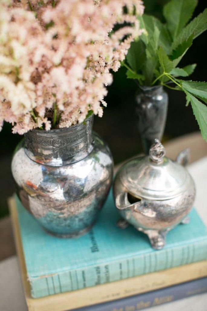 Toques vintage en la decoración de tu boda - Foto Chris+Jenn