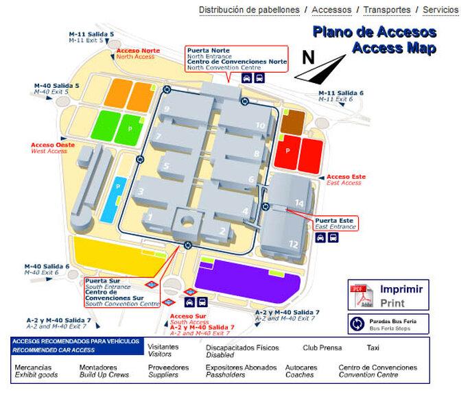 """Accesos y distribución de la Feria """"Las Mil y una Boda"""""""