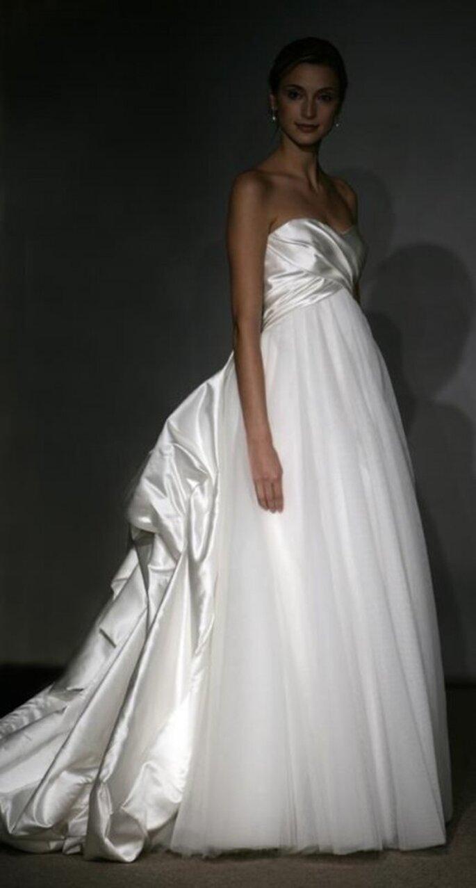 Vestido de novia con satin y tul - Foto Anna Maier Ulla-Maija 2013